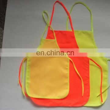 China Manufacturer Cheap Promotional Gifts Safety Aprons High Quality Fluorescent Custom Advertising Aprons