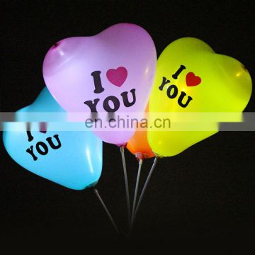 led balloon led light balloon size 12 inch 3.2g with flashing light decorate party