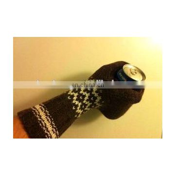 custom beer knitted glove drink holding glove