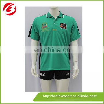 Fashion Different Color Collar Polo Shirt