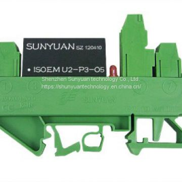 DIN Rail 0-5V/0-10V/4-20mA/0-20mA Current Voltage (I/V, I/I, V/I, V/V) Signal Isolation Transmitter DIN3 Isoem A2-P2-O2