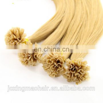 high quality U/I/Flat tip keratin human hair extention remy