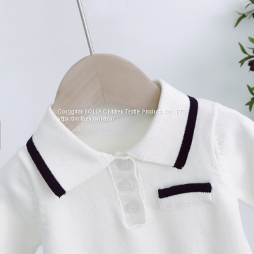 OEM service manufacturing wholesale organic knitted newborn clothing baby romper 100% cotton fabric baby romper