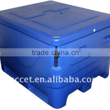 1000L Durable Rolling Cooler for fish transport
