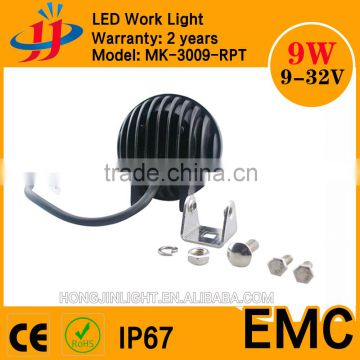 Super bright 12v 24v led working light 3inch 9w mini work light for vehicle,atvs,trucks,bus