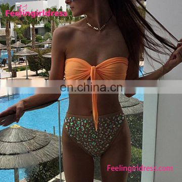 Wholesale Sexy Fashion Two Piece Bikini Set Ladies Swimwear