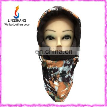 Lingshang multi-use beanie neck warm for winter hats polar fleece cap