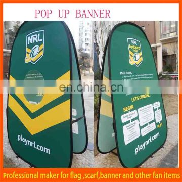 1x2m horizontal pop up banner for advertising