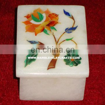 Top Quality Marble Inlay Jewellery Box