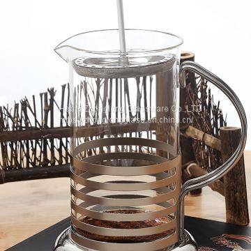 Heat-tempered borosilicate glass French Press/ coffee maker