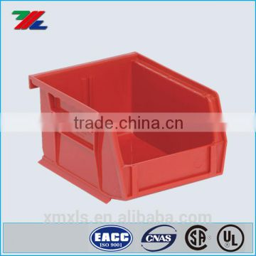 Heavy Duty Stack and Nest Container ; Plastic parts bin with dividers; Hanging Bin Divider