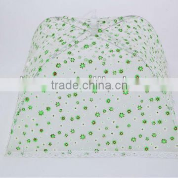 high quality foldable food cover with flower and lace