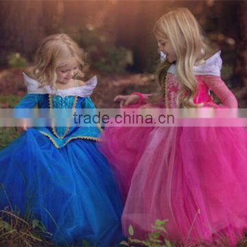 Children Dance Costume Beautiful long sleeved 2017 girls party dresses