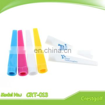 Mixed Color Plastic Wedge Golf Tees Flat golf tees