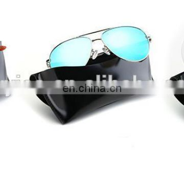 New leather glasses box buttons hand-made sunglasses vintage fashion sunglasses box wholesale