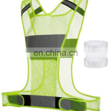 Yellow Lightweight Breathable Mesh Fabric with hook and inner Pocket