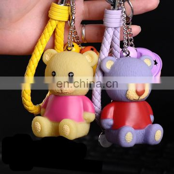 fashion style cute cartoon vinyl doll key chain pendant Teddy Bear keychain