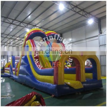 2016 Aier dual lane obstacle course/cheap giant inflatable obstacle bouncers for sale