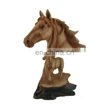 look wood color resin horse head statue
