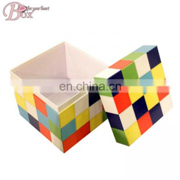 Rubik's Cube Style Paper Lid Storage Box