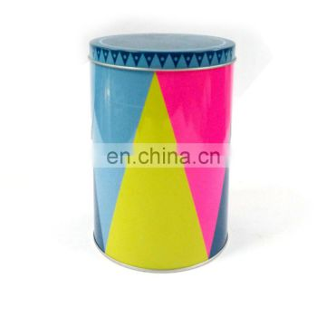 Tall round gift tin box