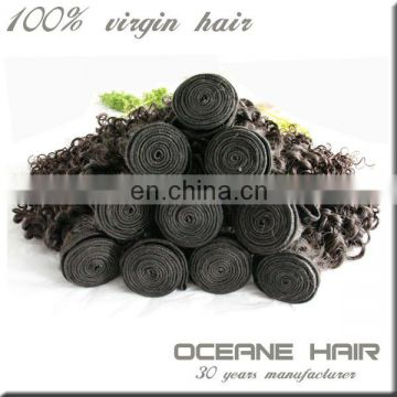 100% unprocessed newest style different types raw indian curly hair