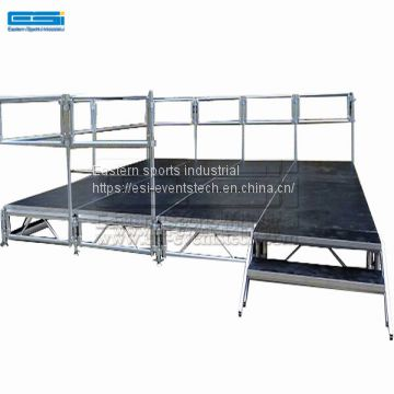 plywood wedding decoration stage,platform stage aluminum frame