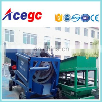 Machine gold processing plant easily moved transported and mobile trommel screen car with wheels