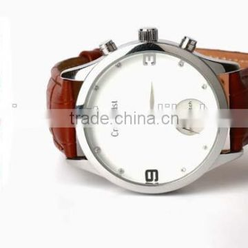 quartz stainless steel watch water resistant with sleeping detection
