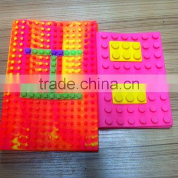 hot sale DIY blocks silicone notebook cover