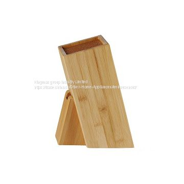 High Quality Free Insert Bamboo/MDF/ Wooden Square Knife Block