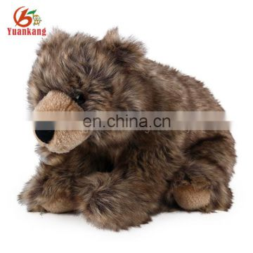 Wholesale realistic plush grizzly bear stuffed animal toys
