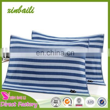 Wholesale 100% cotton towels three layer embroidered pillow towels 52*75cm 140g