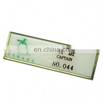 high quality square promotional business metal badge custom