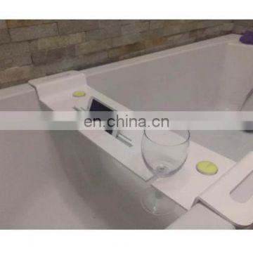 Acrylic bath tub caddy bathtub caddy tray with ipad storage holder ...
