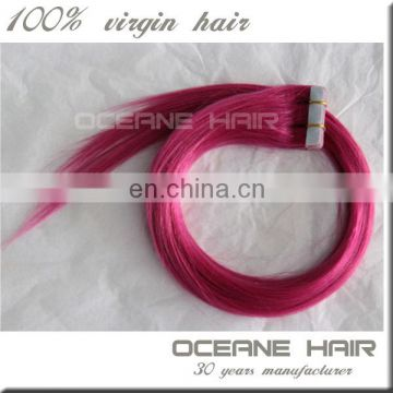 Factories For Sale Micro Tape And Ombre Remy Tape Hair silky straight colorful tape hair extensions