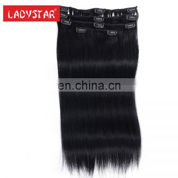 factory wholesale remy human hair clip in human hair extension