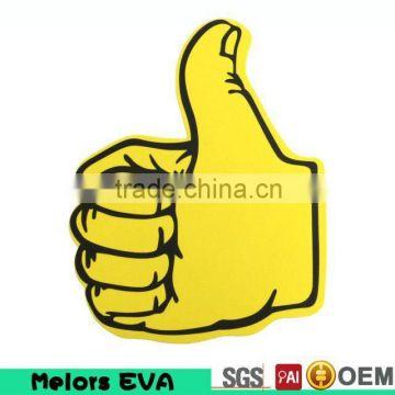 GIANT YELLOW HIGH FIVE FOAM HAND BIG FOAM FINGERS FOOTBALL MATCH CHEERING PROP