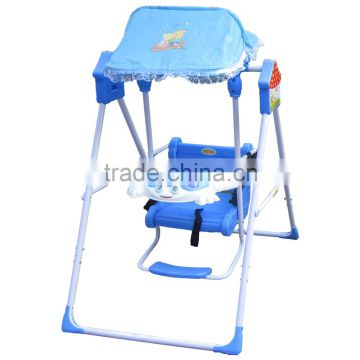 Folding plastic baby swing chair steel tube frame baby swing of Baby ...