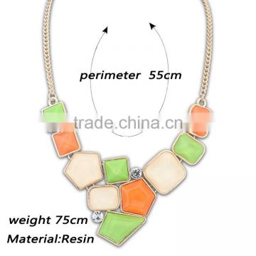 2016 new design handmade women fashion alloy jewelry necklace