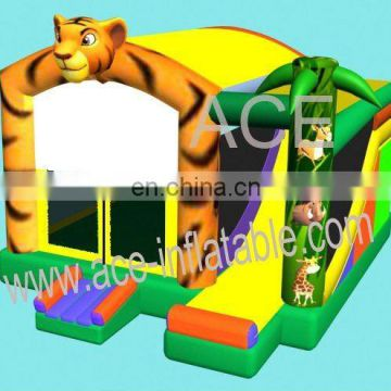2013 new design tiger jungle theme inflatable combo games
