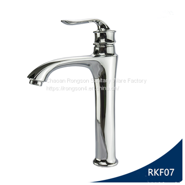 China Supplier Bathroom Single Hole Tall Brass Basin Tap With High Quality  ...