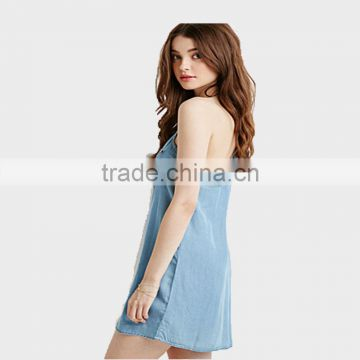 Ladies Vest Dresses Denim Skirt