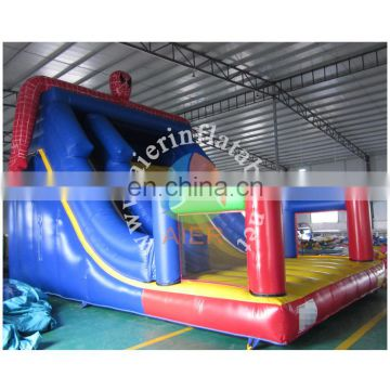 2017 cartoon inflatable slide/inflatable dry slide/cheap inflatble slide for kids