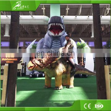 HOT sale! Animatronic walking mini amusement park dinosaur ride for kids