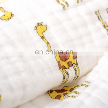 Elinfant hot sale 100% organic cotton baby swaddle blanket baby muslin blanket
