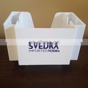 Belvedere Vodka Napkin Holder Straws Caddy Blue Acrylic