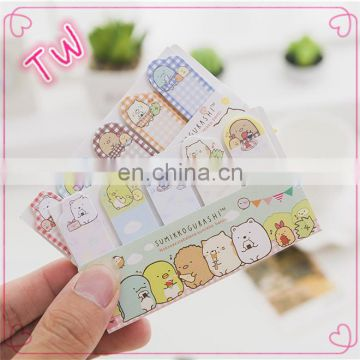 Low price Wholesale china market Creative stationery high quality cute animal shaped sticky notes memo pad in different sizes