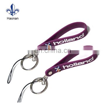 Popular style custom made logo soft PVC keychain for sale