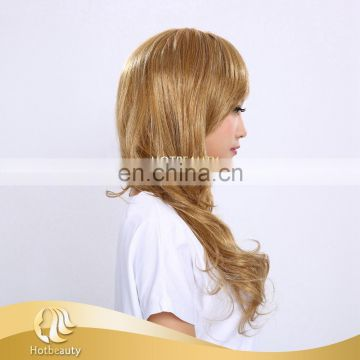cheap 27/144# color 25 inch low temperature synthetic machine made wig